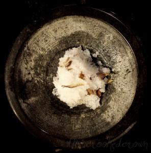 DuRose Salt Scrub with petals