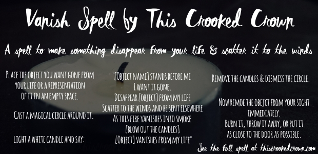 Vanishing Spell [Spell Saturday #7] – This Crooked Crown