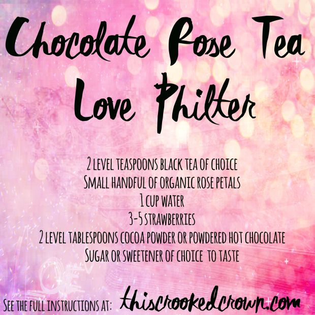 Chocolate Rose Tea Love Philter by This Crooked Crown