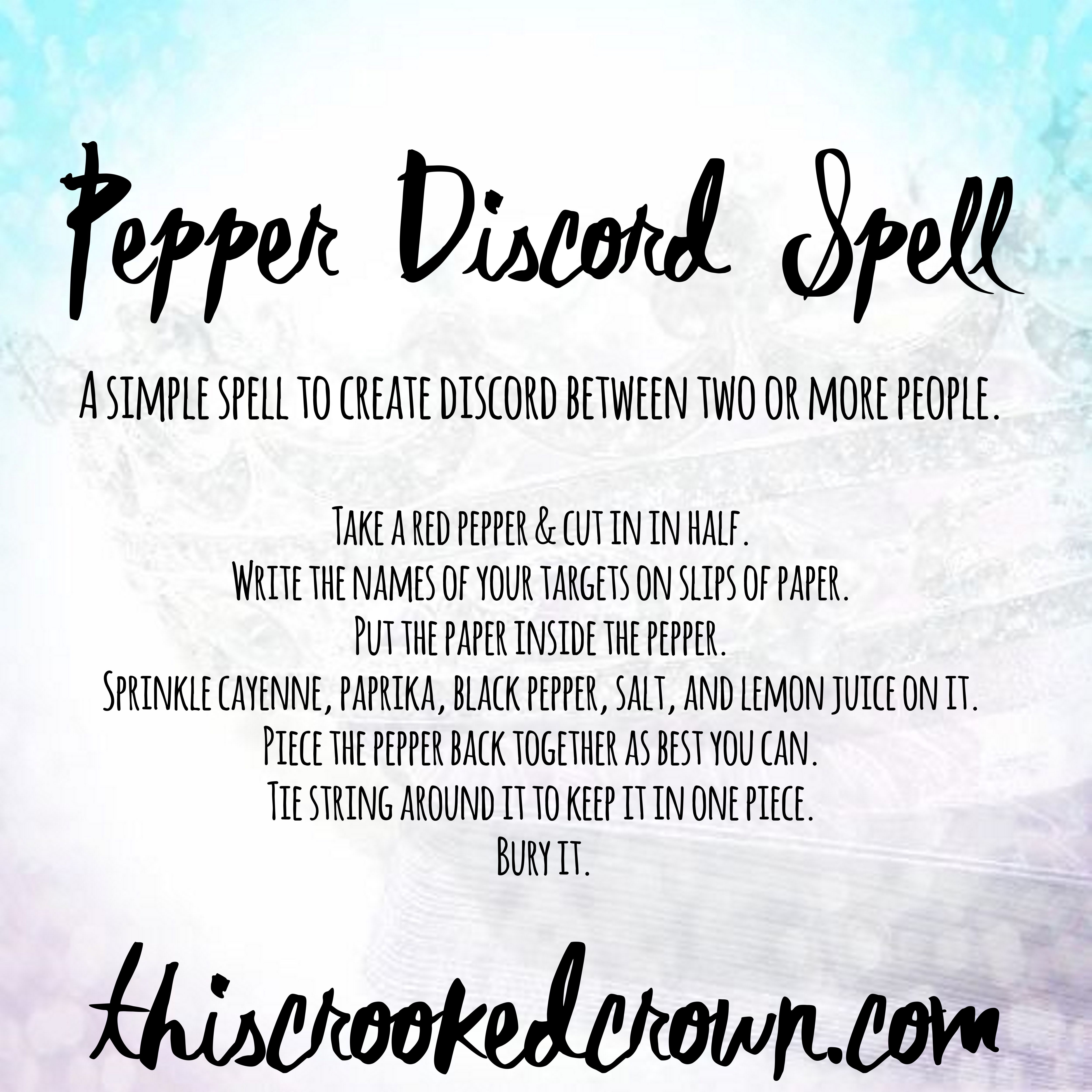 Pepper Discord Spell [Spell Saturday #71] – This Crooked Crown