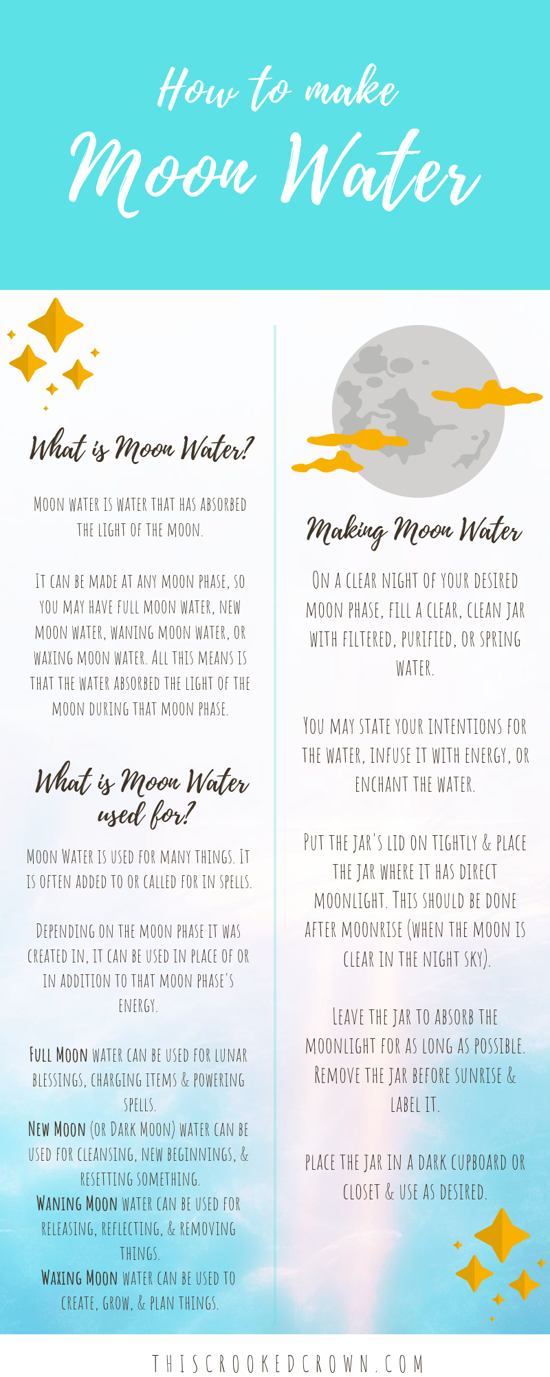 How to Make Moon Water – This Crooked Crown